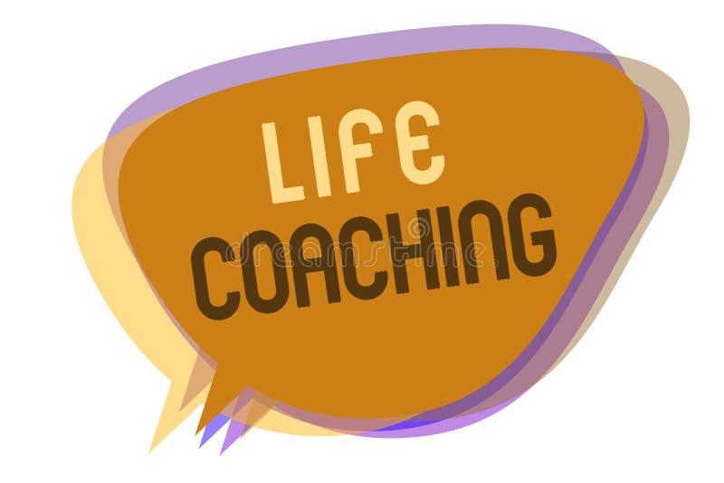 词文字文本生活教练 企业概念由挑战的Improve生活鼓励我们在我们的事业讲话泡影想法 向量例证