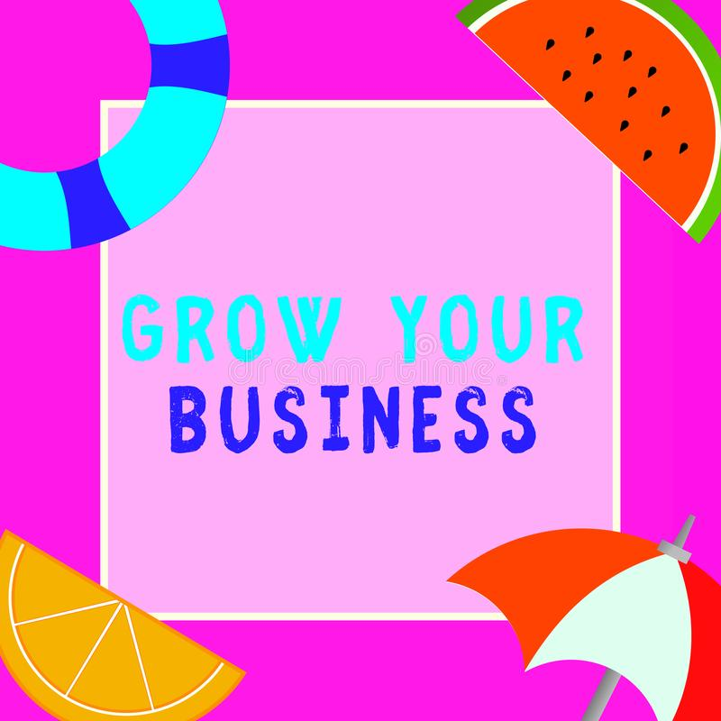 词文字文本生长您的事务 Achieve更高的赢利的企业概念提供投资更好的回归  皇族释放例证