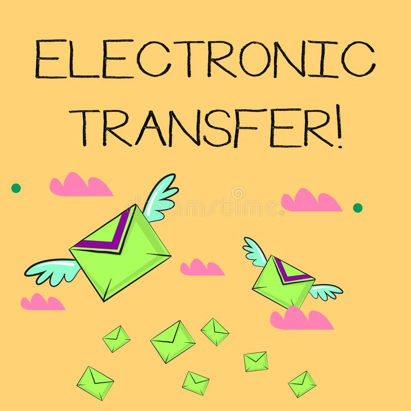 词文字文本电子调用 发生在一个计算机化的网络的交易的企业概念 皇族释放例证