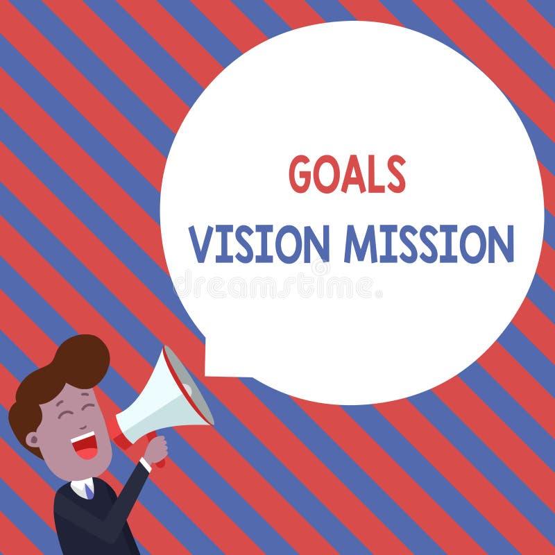 词文字文本目标视觉使命 实用计划过程的企业概念用于帮助社区团体 向量例证
