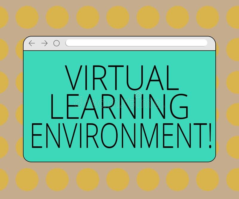 词文字文本真正学习环境 基于互联网的平台种类的企业概念教育技术 库存例证