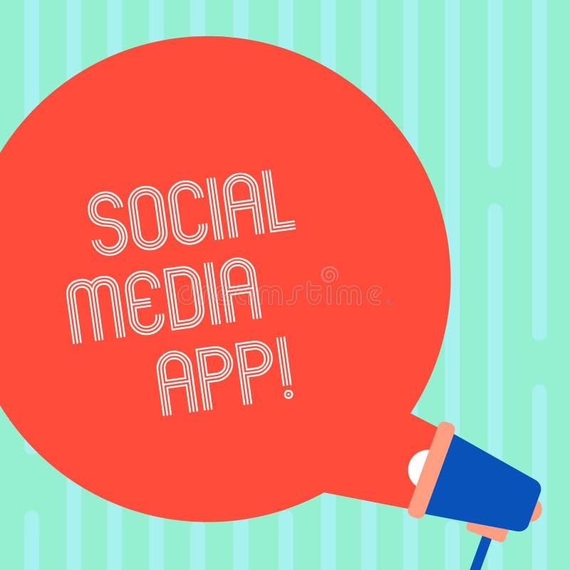 词文字文本社会媒介应用程序 创作和分享的想法事业兴趣企业概念通过互联网空白 皇族释放例证