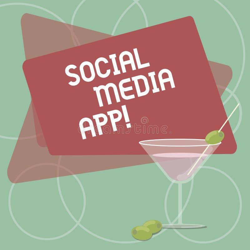 词文字文本社会媒介应用程序 创作和分享的想法事业兴趣企业概念通过被填装的互联网 向量例证