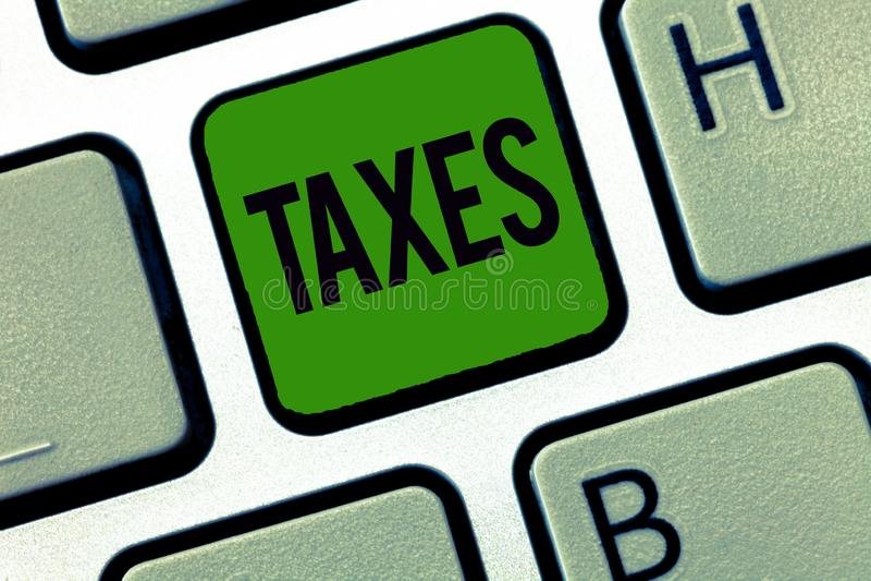 词文字文本税 工作者收入的政府贡献的企业概念能陈述收支征收的 免版税库存照片
