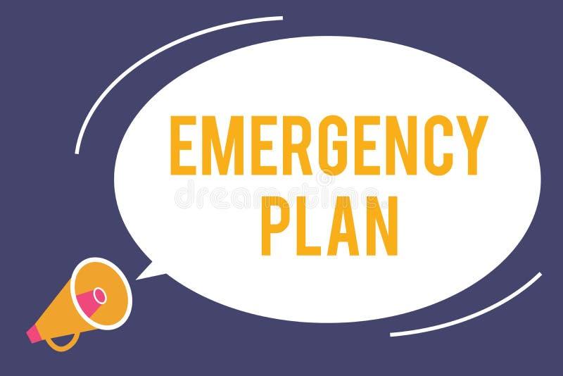 词文字文本紧急办法 做法的企业概念对主要的紧急事件的反应的准备 库存例证