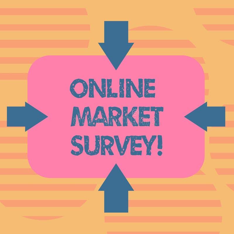词文字文本网上市场调查 收集的信息企业概念根本为市场研究箭头 库存例证