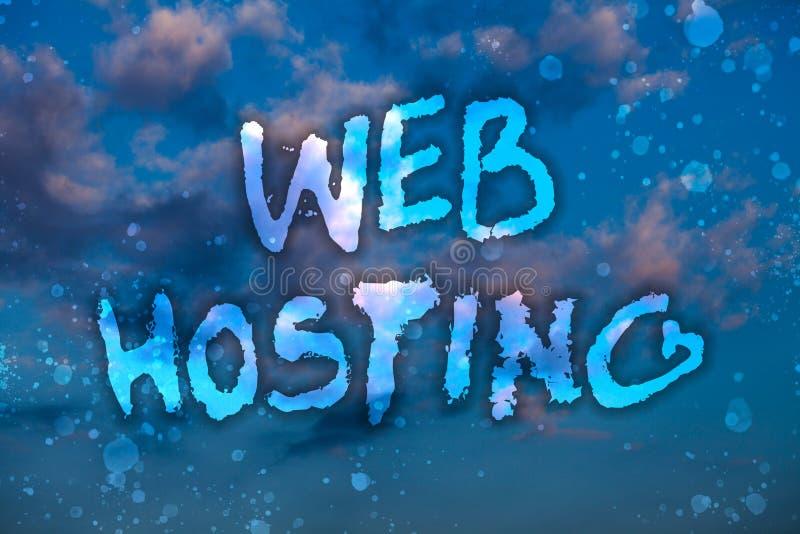 词文字文本网络主持 提供仓库面积和通入的活动的企业概念为网站多云明亮 向量例证