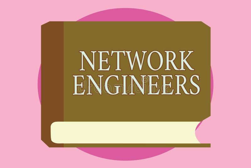 词文字文本网络工程师 技术专业熟练的企业概念在计算机系统 向量例证