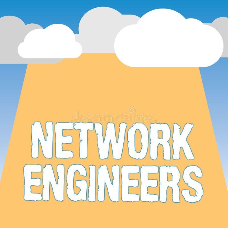 词文字文本网络工程师 技术专业熟练的企业概念在计算机系统 库存例证