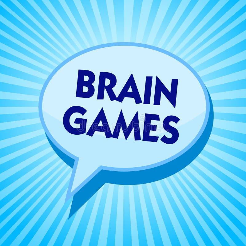 词文字文本脑子比赛 心理战术的企业概念能操作或威逼与对手蓝色讲话bub 库存例证