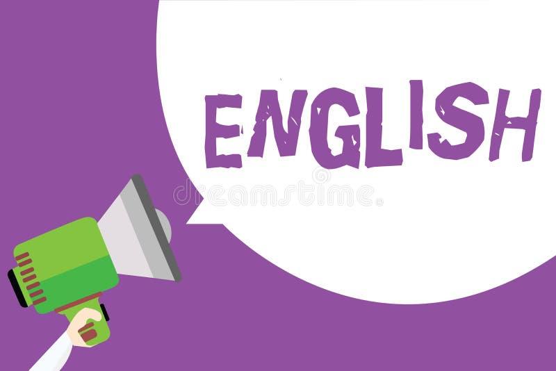 词文字文本英语 相关的企业概念对显示语言文化英国文学类人的英国 向量例证