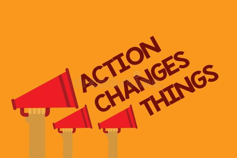 词文字文本行动改变事 做的某事企业概念将反射其他事反应三线文本 库存例证
