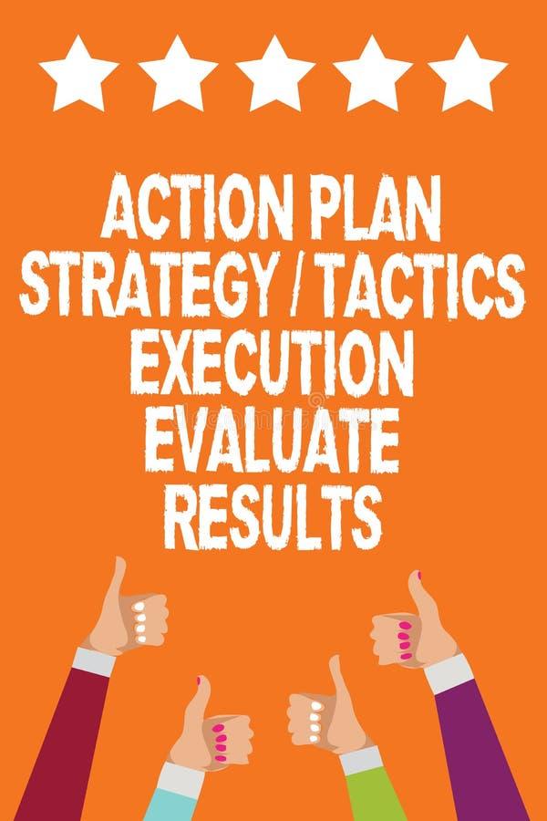 词文字文本行动纲领战略战术施行评估结果 管理反馈人妇女手的企业概念 向量例证