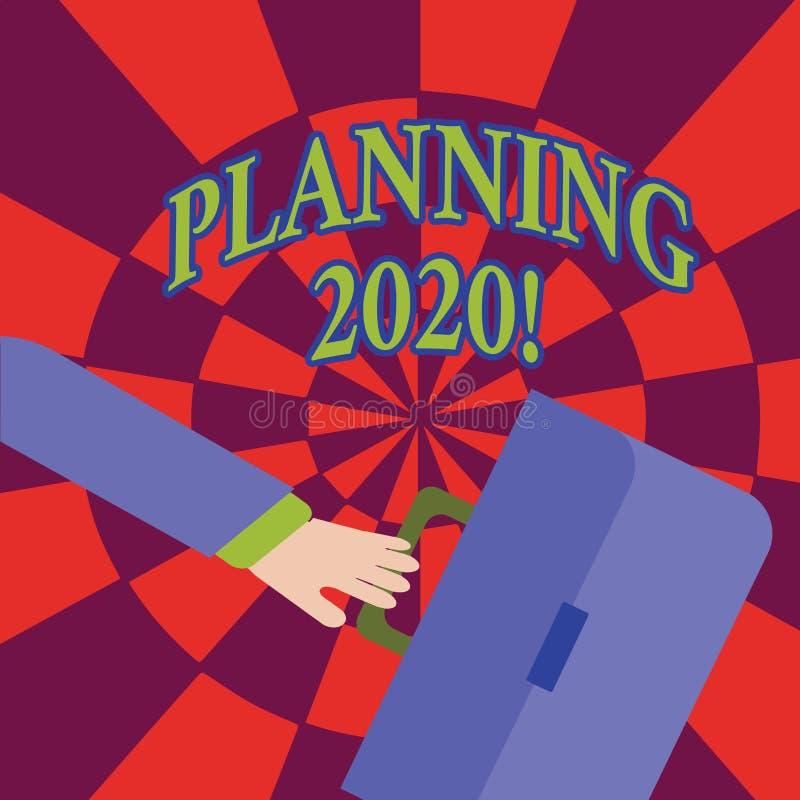 词文字文本计划2020年 做明年冲的某事的计划的过程的企业概念 皇族释放例证