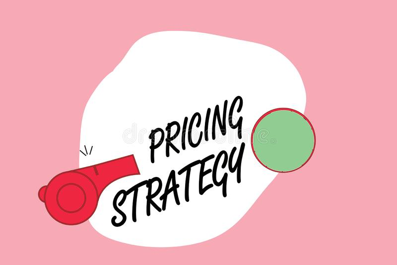 词文字文本订价战略 集合的企业概念最大化被卖的单位的有利或销售总体 库存例证