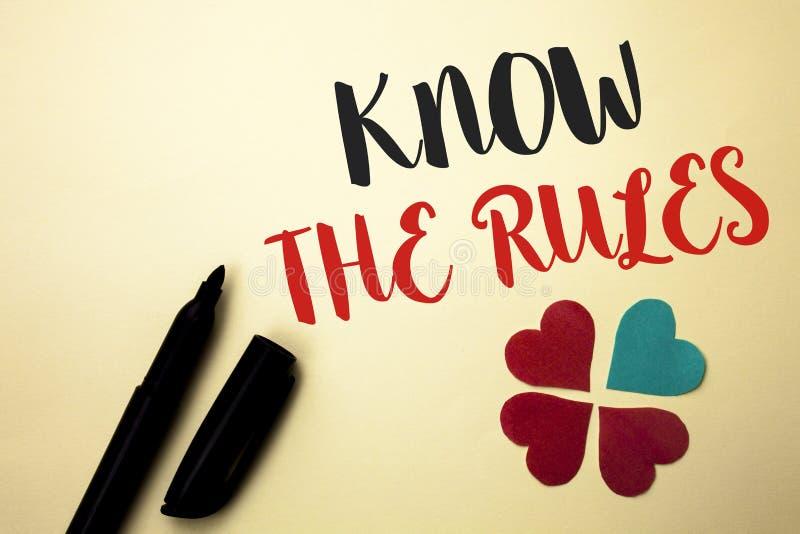 词文字文本认识规则 企业概念为知道标志写的法律章程协议做法  库存照片