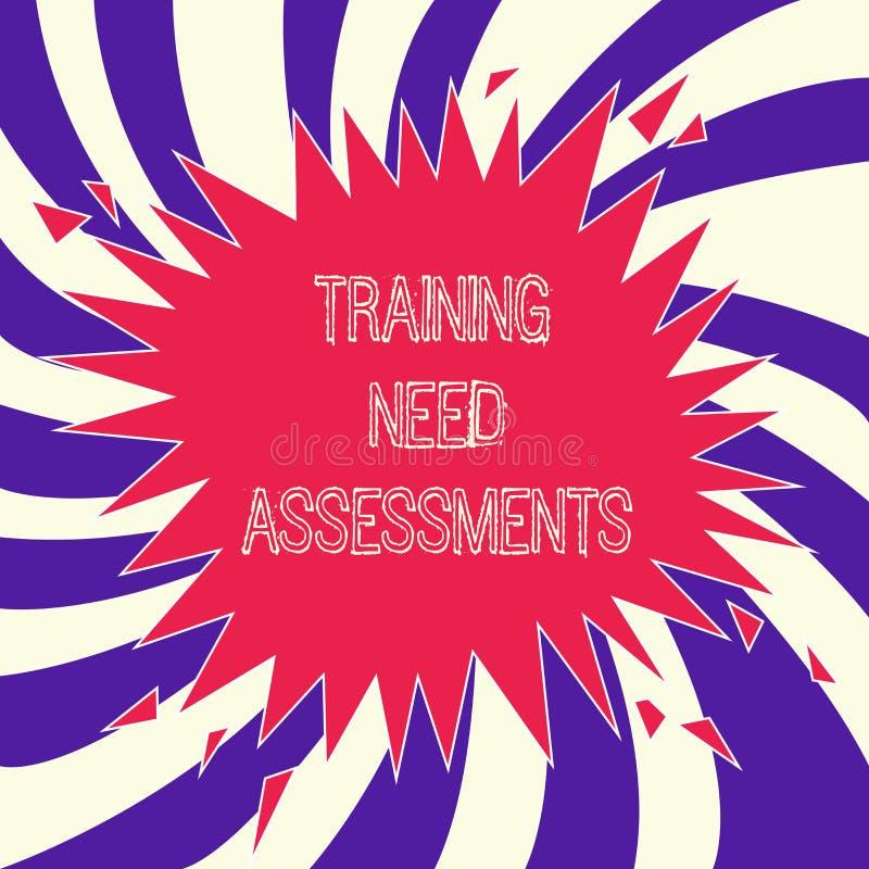 词文字文本训练需要评估 企业概念为确定锻炼要求填补空白 向量例证