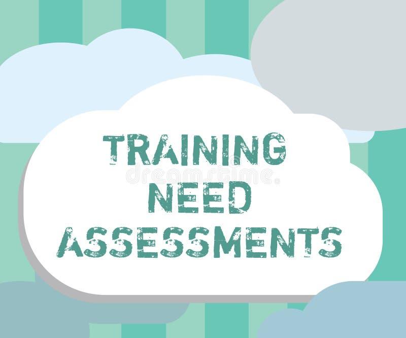 词文字文本训练需要评估 企业概念为确定锻炼要求填补空白 皇族释放例证