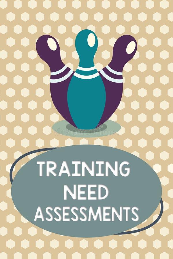词文字文本训练需要评估 企业概念为确定锻炼要求填补空白 库存例证