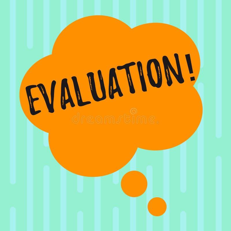 词文字文本评估 评断反馈的企业概念评估某事的质量perforanalysisce 库存例证