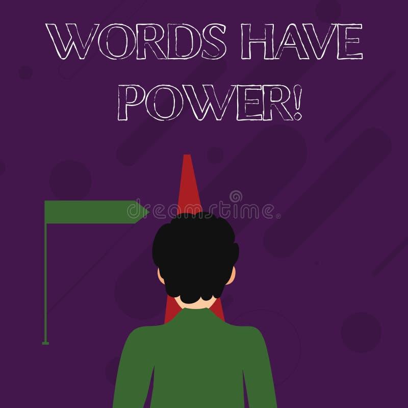 词文字文本词有力量 您说的声明的企业概念有能力改变您的现实人 向量例证
