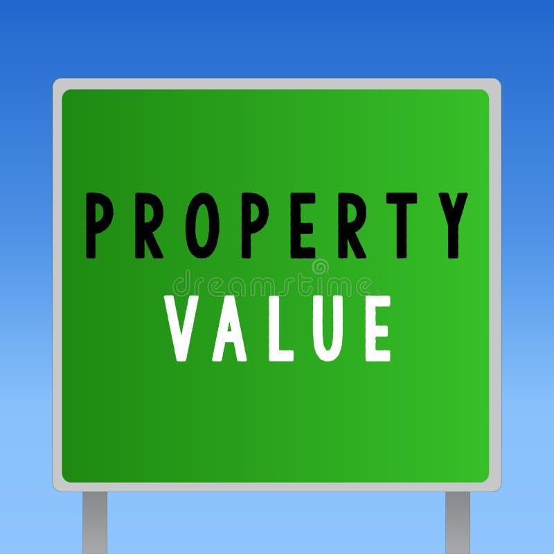 词文字文本财产价值 土地房地产鉴定人公平的市场价的价值的企业概念 皇族释放例证