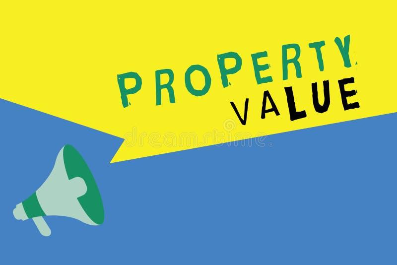 词文字文本财产价值 土地房地产鉴定人公平的市场价的价值的企业概念 向量例证