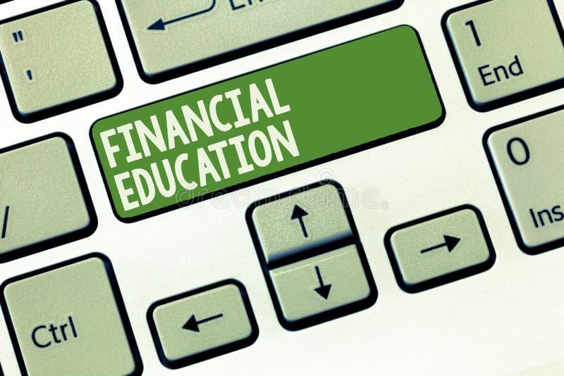 词文字文本财政教育 了解金钱区域象财务和投资的企业概念 免版税库存照片