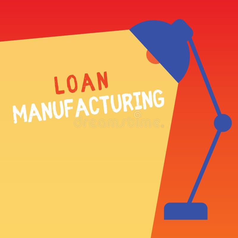 词文字文本贷款制造业 银行过程的企业概念能检查借户的合格 向量例证