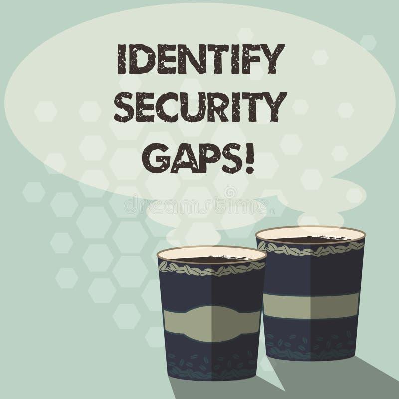 词文字文本辨认安全空白 企业概念为确定到位控制是否是足够两去杯 皇族释放例证