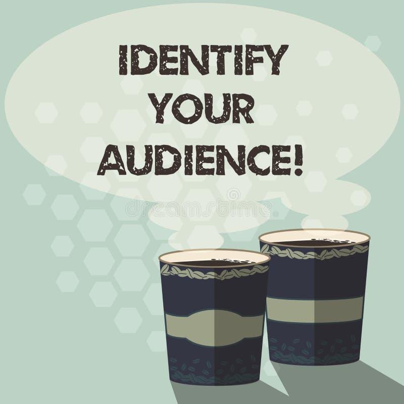 词文字文本辨认您的观众 推测的目标观众和他们的需要两企业概念 皇族释放例证