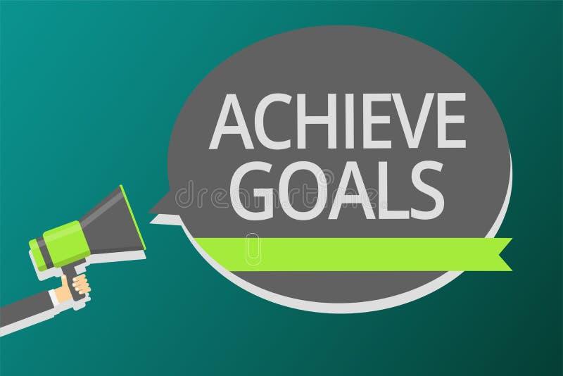 词文字文本达到目标 结果针对的伸手可及的距离目标有效的计划的企业概念继举行megapho的人之后 向量例证