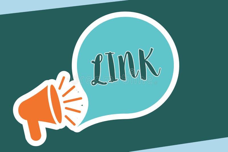 词文字文本链接 圈的企业概念在路线链网络在网页连接之间的 皇族释放例证