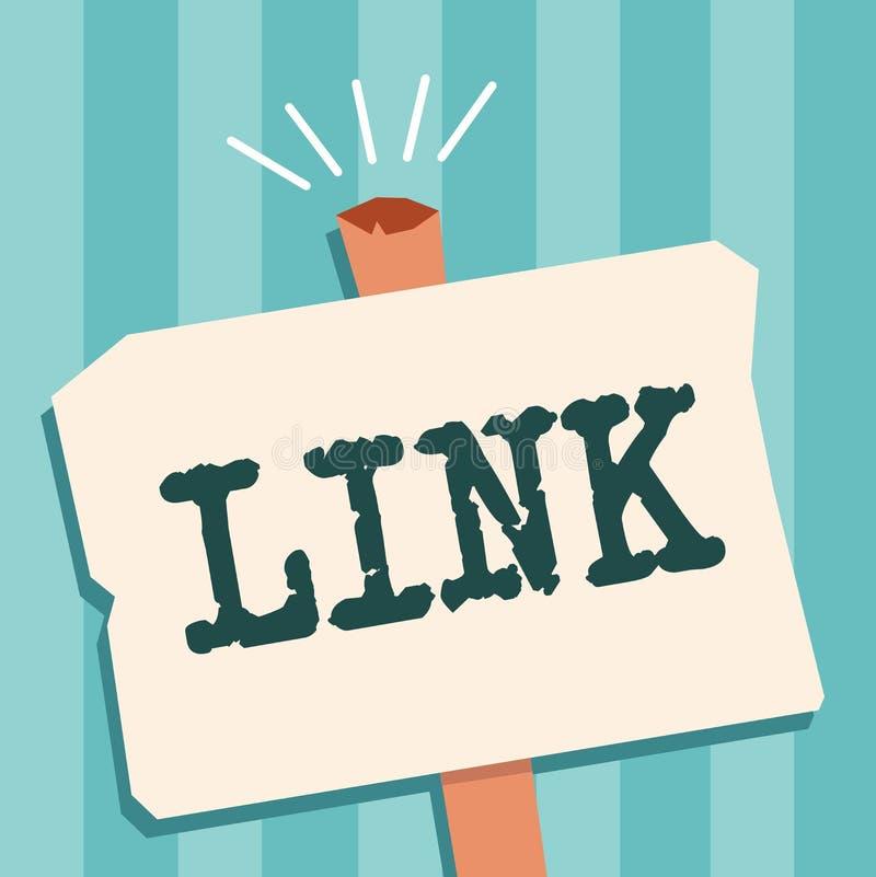 词文字文本链接 圈的企业概念在路线链网络在网页连接之间的 库存例证