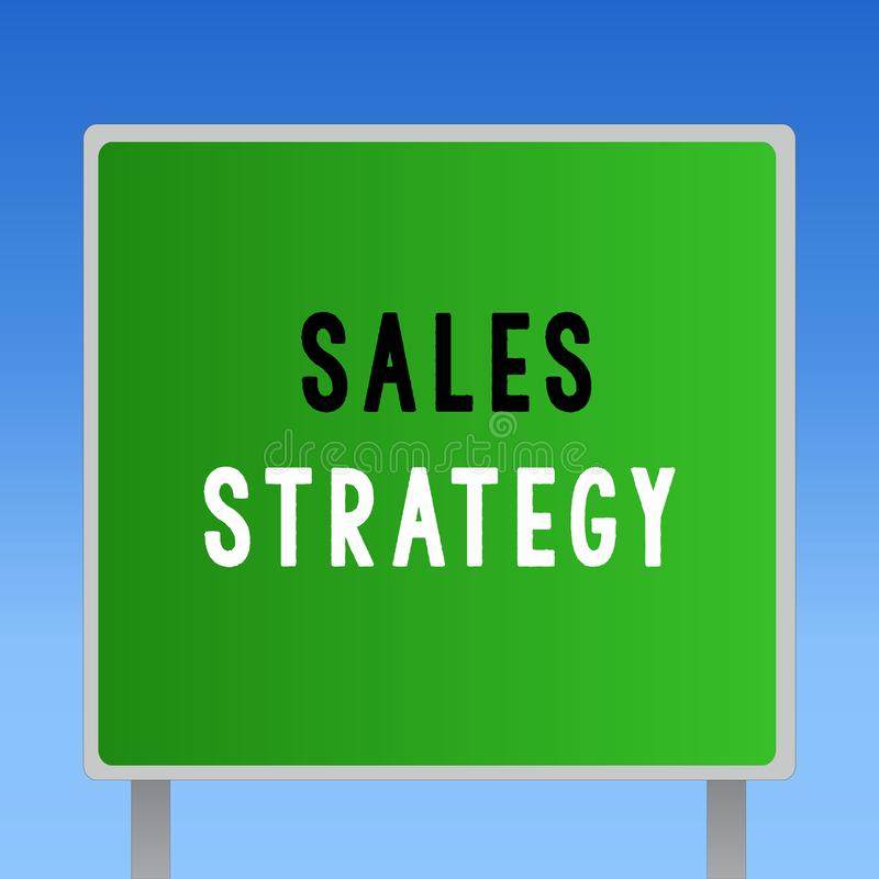 词文字文本销售战略 计划的企业概念的到达和卖对您的目标市场行销 库存照片