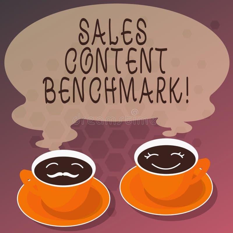 词文字文本销售美满的基准 制作的销售转换套杯茶碟的启动内容企业概念 库存例证