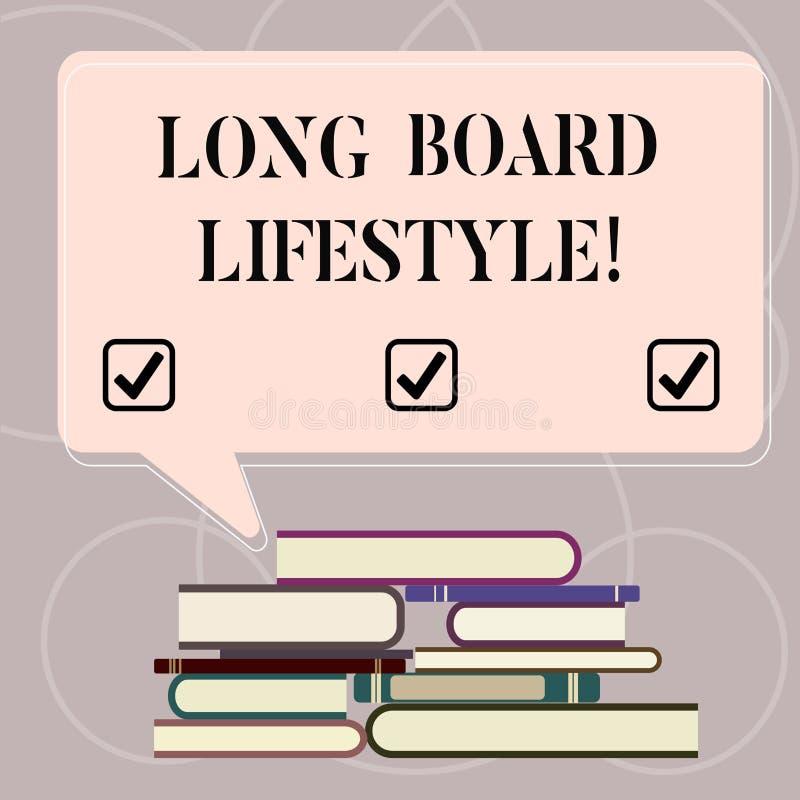 词文字文本长的板生活方式 得到的企业概念钩用参差不齐longboard的运动器材 皇族释放例证