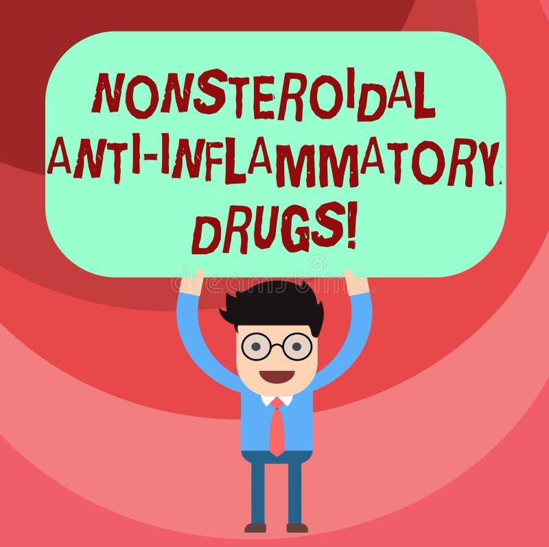 词文字文本非类固醇的反激动的药物 减少痛苦人医学的类的企业概念  向量例证