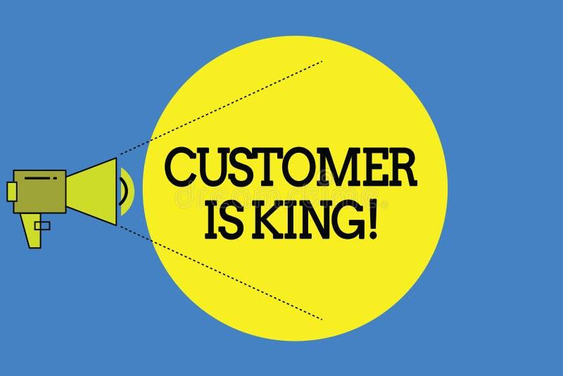 词文字文本顾客是国王 殷勤服务的企业概念和迫切地适当地提供需要 皇族释放例证