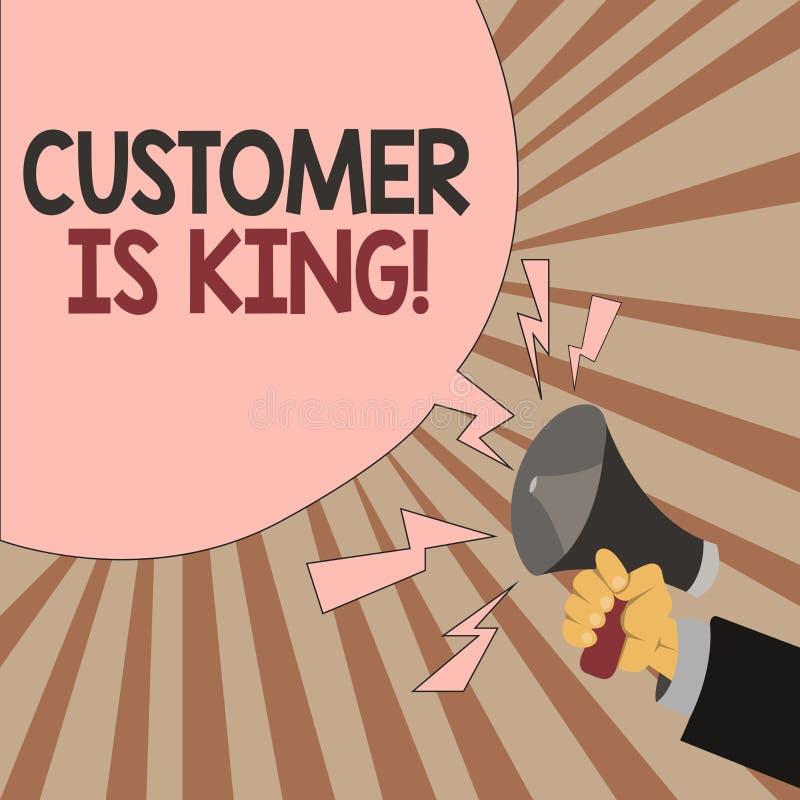 词文字文本顾客是国王 殷勤服务的企业概念和迫切地适当地提供需要 库存例证