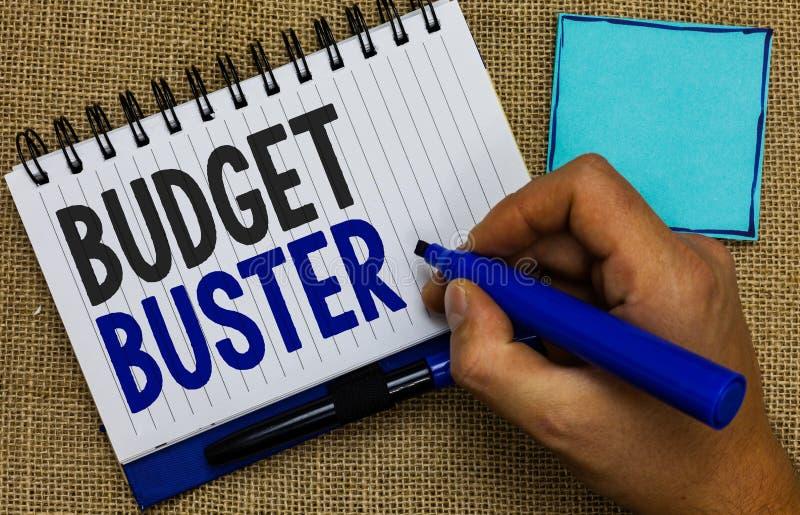 词文字文本预算钉头切断机 无忧无虑的消费的企业概念讲价过度花费人的多余的购买举行ma 库存图片