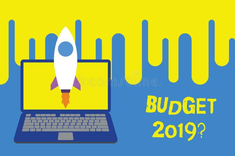 词文字文本预算2019问题 支出和收入的估计的企业概念明年发射的 向量例证