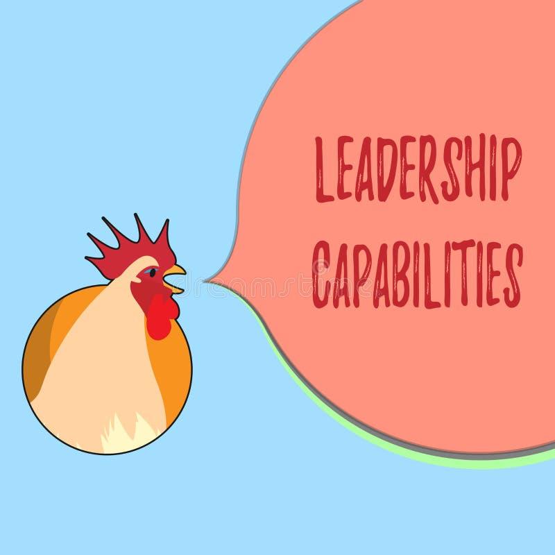 词文字文本领导能力 套的企业概念表现期望领导人能力 皇族释放例证
