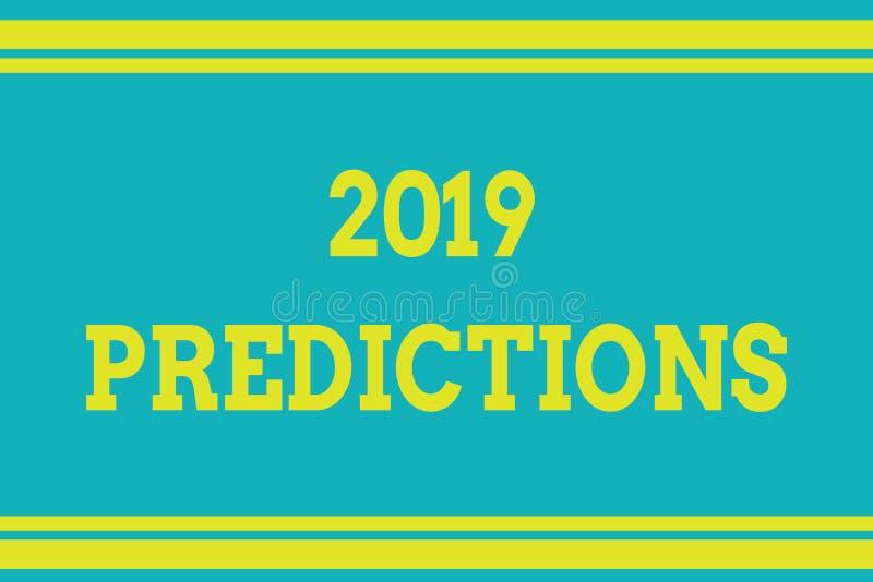 词文字文本2019预言 声明的企业概念关于什么您认为在2019将发生无缝 皇族释放例证