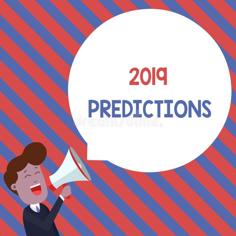 词文字文本2019预言 声明的企业概念关于什么您认为将发生2019年年轻人 向量例证