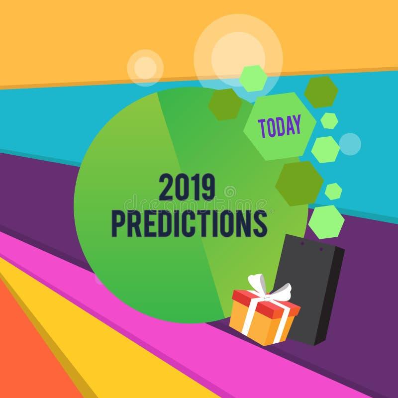 词文字文本2019预言 声明的企业概念关于什么您认为将发生2019年问候 库存例证