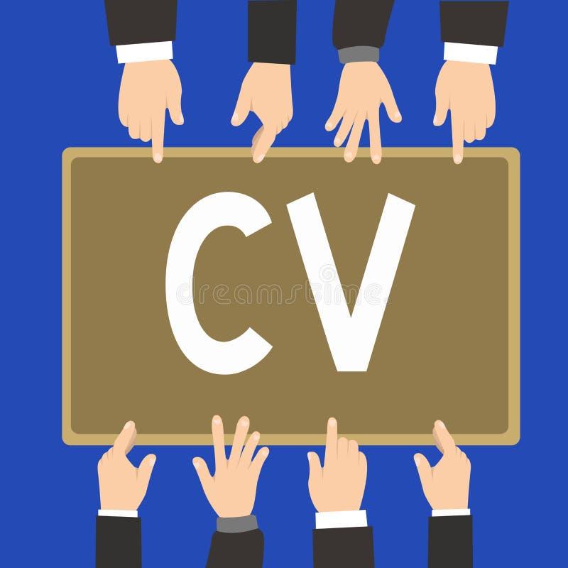 词文字文本Cv 企业概念为求职者生活体验教育达到技能和专门技术 向量例证
