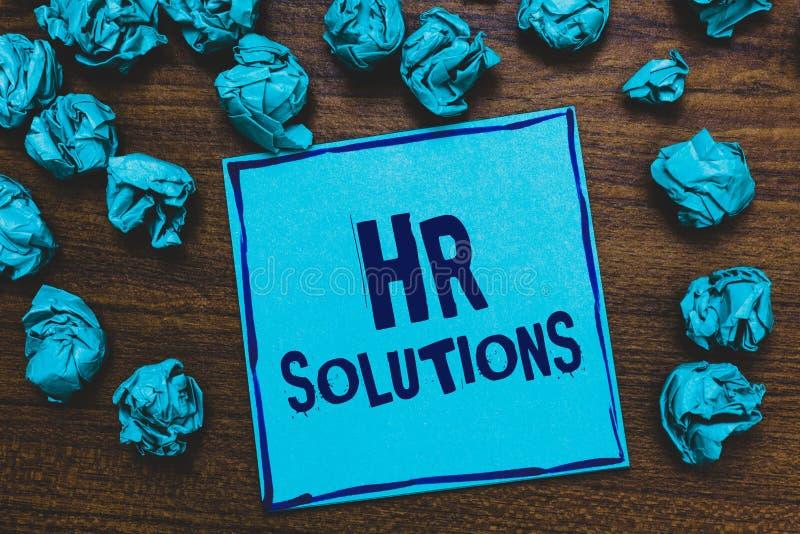 词文字文本Hr解答 外包的人力资源咨询学校的企业概念和支持专家蓝纸笔记关于 库存照片