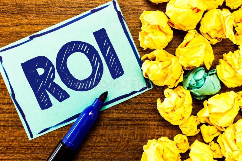 词文字文本Roi 工作指标的企业概念用于评估投资的效率 图库摄影