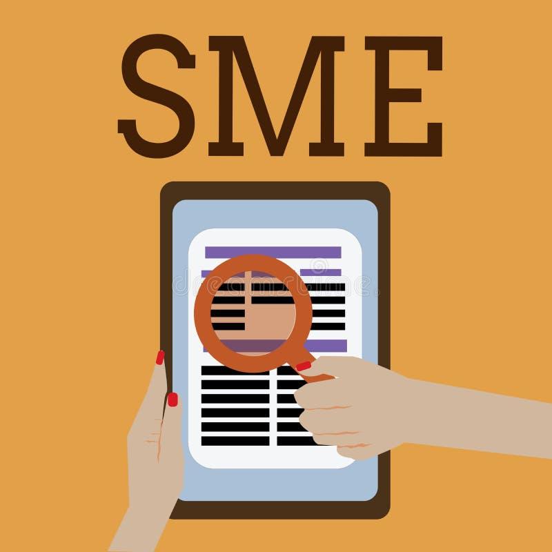 词文字文本Sme 公司的企业概念与不大于500位雇员小中等企业 向量例证